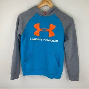 Under Armour boys medium gray blue hoodie medium